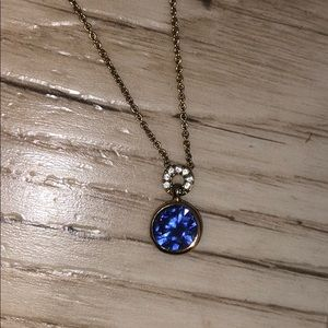♠️ Kate Spade Gold and Cobalt blue necklace